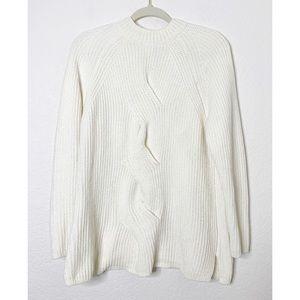 J Jill Medium Ivory Chenille Soft & Cozy Sweater